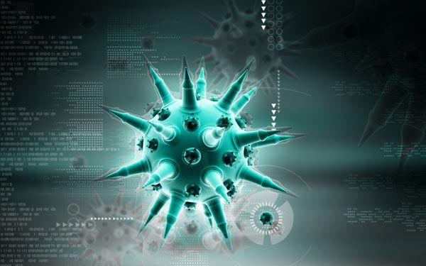 Digital illustration of flu virus by Shutterstock.