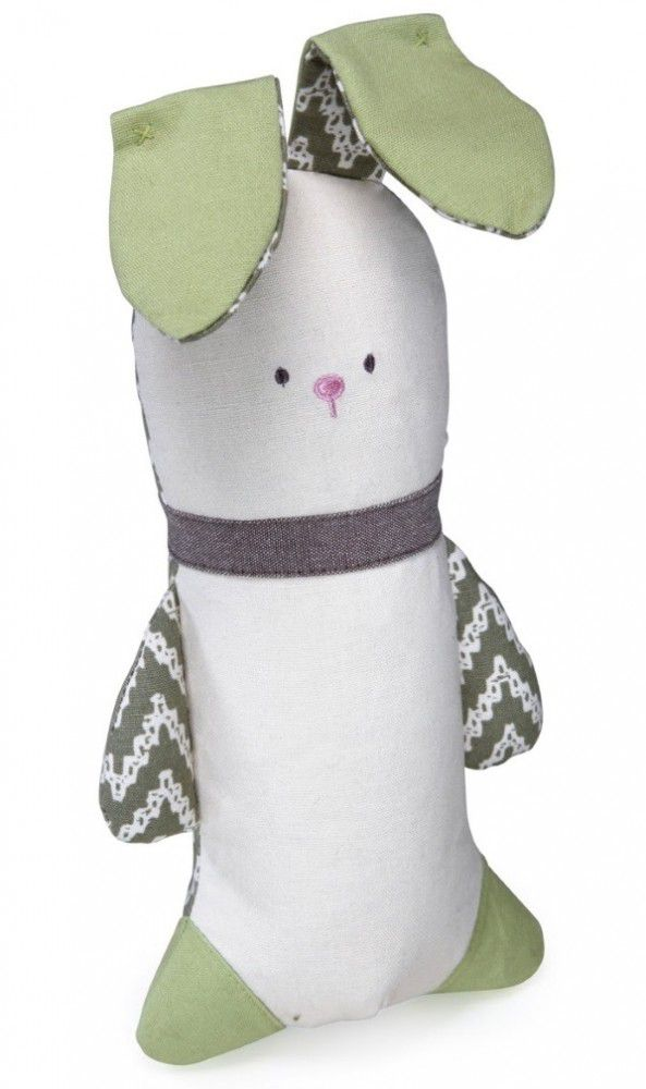 This Crinkle Bunny Dog Toy is safe for both children and dogs.