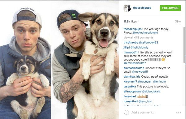 From Gus Kenworthy's Twitter feed.