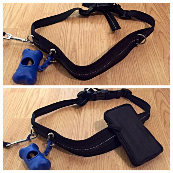 The leash with and without the detachable cell phone case. Photo by Abbie Mood