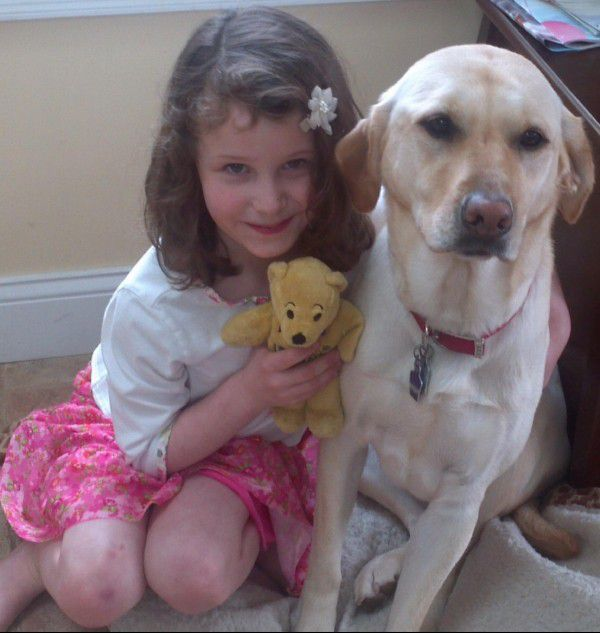 Charlotte loved stuffed animals and her dog, Lilly. Photo provided.