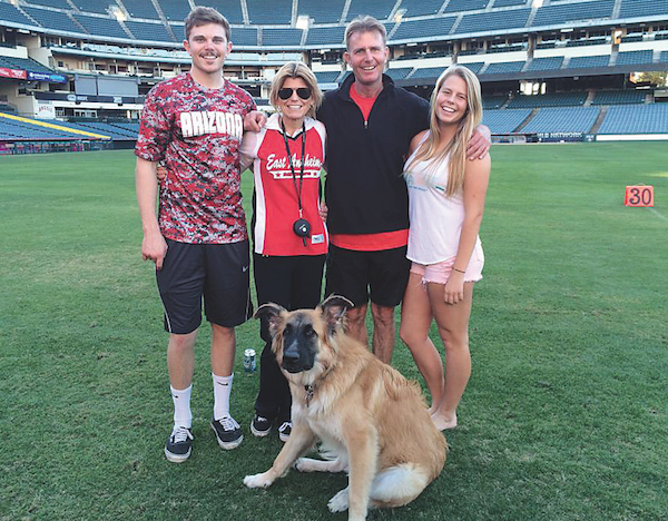 Clyde with his family. (Photo courtesy Barni and Lori Lopas)