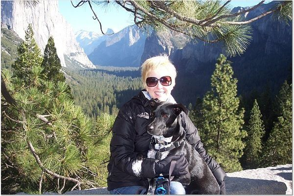 Riggins and me hanging out at Yosemite. (Photo by Christy Newell)