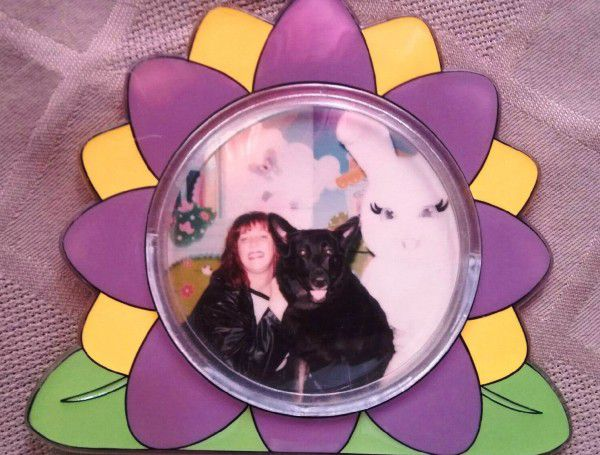 Courtesy of Kat Merrill I took Pasha to see the Easter bunny when she was 8 years old. Even at that age, I wasn't thinking of the day she would have to leave me.