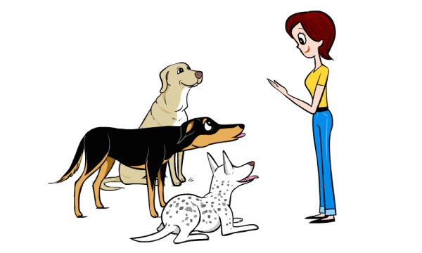 Training the basics humanely makes a dog much more adoptable. (Illustration by Lili Chin/courtesy Dog Decoder Smartphone App)
