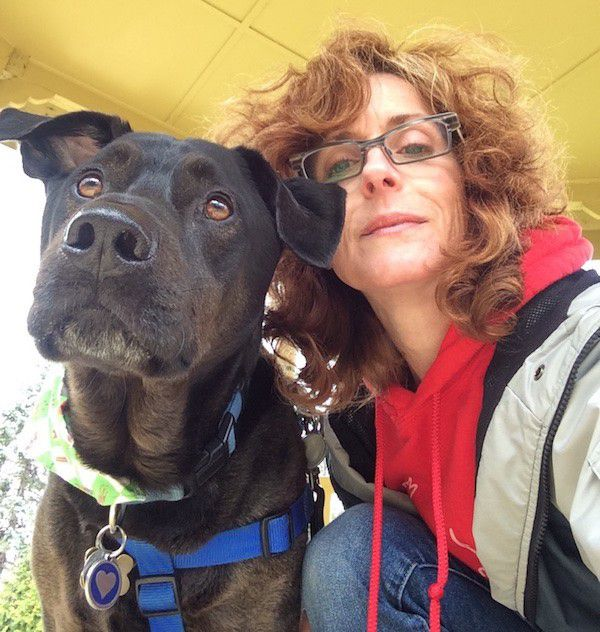 Harris and I on an adventure at the park. (Photo by Chris Corrigan Mendez)