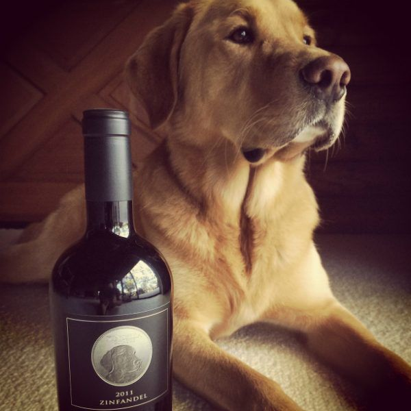 The real life Spencer poses with a bottle of the Spencer Cabernet, from Kinsella Estates which is named after him. (All photos courtesy Paten Hughes)