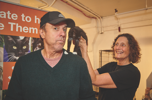Comedian Kevin Nealon and Victoria's Secret Model Lindsay Ellingson (at top) promote pets at Best Friends Animal Society's adoption event. (Photo by Boprey Photography)