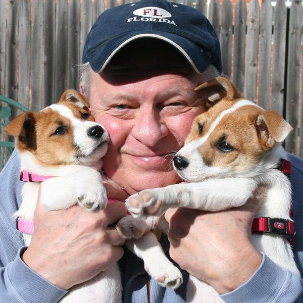 """""""My Jim with our fur babies Zuzu and Bailey."""" -Submitted by Facebook user Janelle Hastings"""