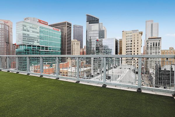 Town Place has a rooftop dog park to keep your dog's tail wagging. Photography courtesy BridgeStreet.