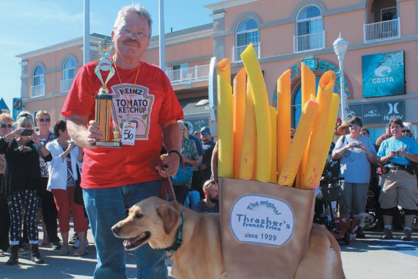 This dog and owner go together like, well, you know. They won the Most Ocean City Spirit award in 2017.