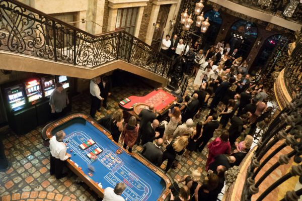 """The Paws4You Rescue Benefit """"Chopard Presents Diamonds Are Forever"""" Gala is a casino-themed fundraiser to raise money for the shelter."""