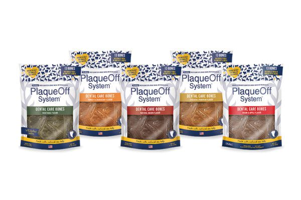 Bison & Apple PlaqueOff Dental Care Bones