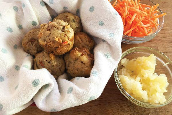 Carrot pineapple mini muffins.
